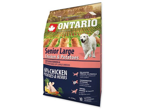 ONTARIO Senior Large Chicken & Potatoes 2.25kg