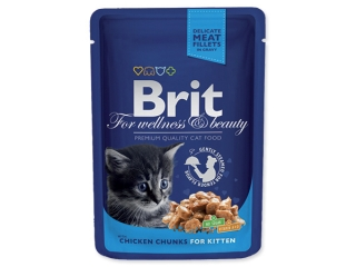 BRIT Premium Kitten Chicken Chunks kapsička (100g)