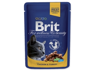 BRIT Premium Cat Chicken & Turkey kapsička (100g)