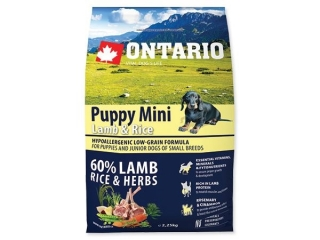 ONTARIO Puppy Mini Lamb & Rice 2.25kg