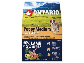 ONTARIO Puppy Medium Lamb & Rice 2.25kg