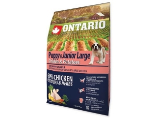 ONTARIO Puppy&Junior Large Chicken & Potatoes 2.25kg
