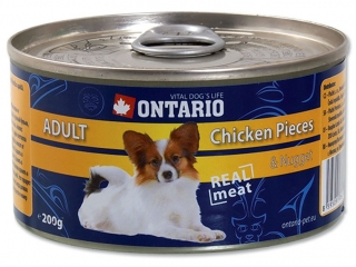 Ontario konzerva Dog Chicken pieces & Chicken nugget 200g