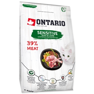 ONTARIO Cat Sensitive / Derma (0,4kg)