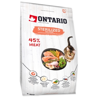 ONTARIO Cat Sterilised Salmon (2kg)