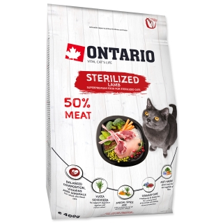 ONTARIO Cat Sterilised Lamb (0,4kg)