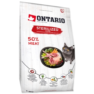 ONTARIO Cat Sterilised Lamb (2kg)
