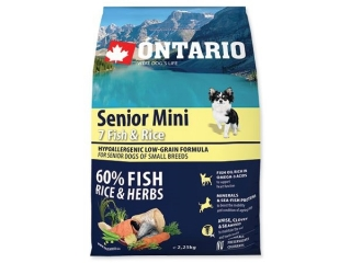 ONTARIO Senior Mini 7Fish & Rice 2.25kg